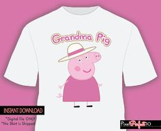 Grandma pig Peppa pig tshirt iron on transfer by PixelPerfect10