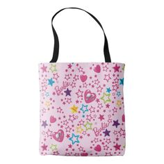 Starry Heart pattern Tote Bag