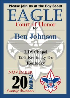 Eagle Scout Court of Honor Invitation by StephsDigitalDoodles, $10.00