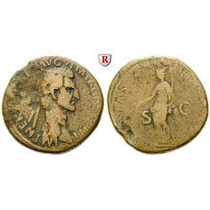 Römische Kaiserzeit, Nerva, Sesterz 97, ss: Nerva 96-98. Messing-Sesterz 32 mm 97 Rom. Kopf r. mit Lorbeerkranz IMP NERVA CAES AVG P… #coins