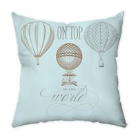 On Top of the World Non-Personalized Pillow. Festive balloons will make you feel on top of the world! Back in coordinating balloon pattern.   http://www.einvite.com/product/detail/PIL-EOD-PENS.html