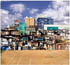 """Dionisio Gonzalez - In his series """"Favela"""", Dionisio Gonzalez mixes shanty towns and modern architecture to achieve a startling effect."""