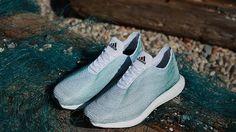 Estas son las primeras zapatillas hechas con basura del mar y una impresora 3-D -  Adidas crea unas deportivas con desechos del océano y redes de pesca ilegales