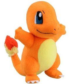 "Amazon.com: Takaratomy New Pokemon N-09 X and Y Charmander/Hitokage 8.5"" Plush Doll: Toys  Games"