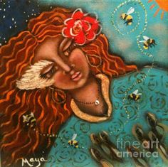 Gossip My Maya Telford Painting - Acrylic On Canvas