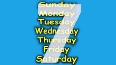 Days of the Week Song - 7 Days of the Week - Children's Songs by The Learning Station - YouTube