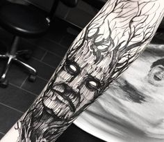 Download Free Tree Face Tattoo tree face tattoo by fredao oliveira photo no. 14444 to use and take to your artist.
