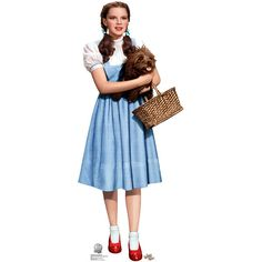 Dorothy and Toto - Cardboard Cutouts and Standups ($40) ❤ liked on Polyvore featuring wizard of oz