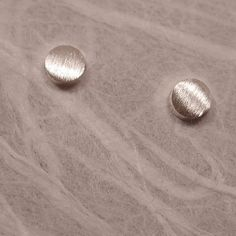 Matte Frost Brushed Silver Studs Small Post Earrings