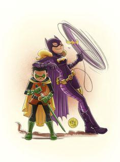 Batgirl & Robin - Mike Maihack