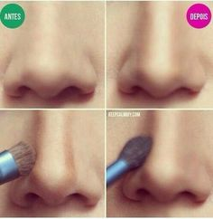 Great way to make your nose look smaller