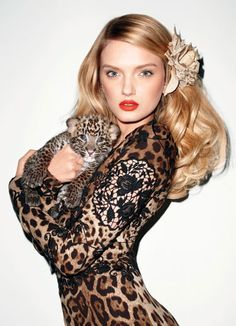 Happy Birthday to Terry Richardson! // Lily Donaldson in Harper's BAZAAR January 2011