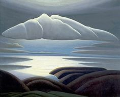 Lawren Harris, Clouds, Lake Superior, 1923 Lawren Harris was a member of the Group of Seven, a group of artists who sought uniquely Canadian expressions through landscape painting. Tom Thomson, Emily Carr, Group Of Seven Artists, Group Of Seven Paintings, Winnipeg Art Gallery, Art Gallery Of Ontario, Canadian Painters, Canadian Artists, Harlem Renaissance