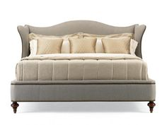 Hickory White - Upholstered Wingback Bed-King - 735-21