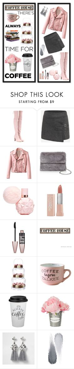 """""""Coffee time"""" by sara-miqdadi ❤ liked on Polyvore featuring Stuart Weitzman, Street Level, Maybelline, Wilton, Anna Sui, Clé de Peau Beauté and CoffeeDate"""