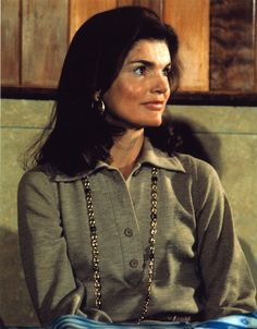"""""""No one else looked like her, spoke like her, wrote like her, or was so original in the way she did things. No one we knew ever had a better sense of self."""" - Ted Kennedy on Jackie Kennedy Onassis 70s."""