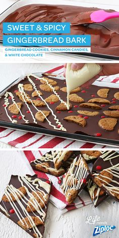 This simple, chocolate bark tastes just like a gingerbread house (without all of…