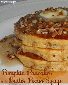 Recipe Swagger: Pumpkin Pancakes with Butter Pecan Syrup