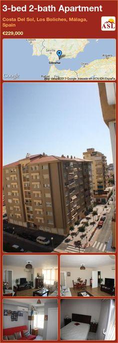 3-bed 2-bath Apartment in Costa Del Sol, Los Boliches, Málaga, Spain ►€229,000 #PropertyForSaleInSpain