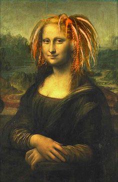 Mona lisa hair mona lisa funny в 2019 г. Real Mona Lisa, Mona Lisa Smile, Lisa Hair, La Madone, Mona Lisa Parody, American Gothic, Italian Artist, Funny Art, Oeuvre D'art