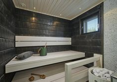 Sauna in Mammuttikoti villa Roihu Seinäjoen Asuntomessut Spa Rooms, Bathrooms Remodel, Home Goods, Home, Sauna Design, Restroom Decor, Interior Design Restroom, Bathroom Design Small, Home Deco