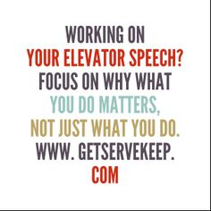 Answering why is more compelling and gets to the heart of what you do.