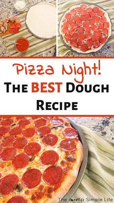 Pizza Night: The Best Homemade Pizza Dough This homemade pizza dough recipe is the best! It's easy and makes the perfect crust for our family pizza nights. You can totally make your own pizza dough – it's more healthy than takeout and fun for kids. The Best Homemade Pizza Dough Recipe, Making Homemade Pizza, Chicken Lunch Recipes, Pizza Recipes, Copycat Recipes, Dinner Recipes, Cooking Pork Roast, Cooking Brussel Sprouts, Kids Cooking Recipes