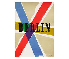 f e a r s a n d k a h n - 1960's Berlin/Richard Blank Poster