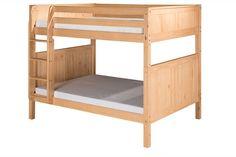 Camaflexi Full over Full Bunk Bed - Panel Headboard - Natural Finish - C1621_NT