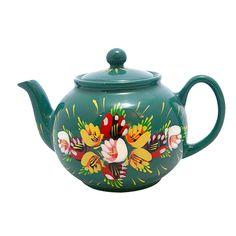 Pretty Vintage Bargeware Teapot.