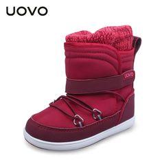 UOVO Splash Proof Snow Girls Boots,Baby Shoes,Oxford Fabric Children's shoes,Botas Femininas,Girls Winter Boots,Kids Boots Girls