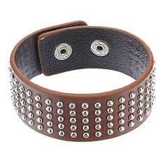 z&X® pulseira de couro multi-rebite – BRL R$ 10,23