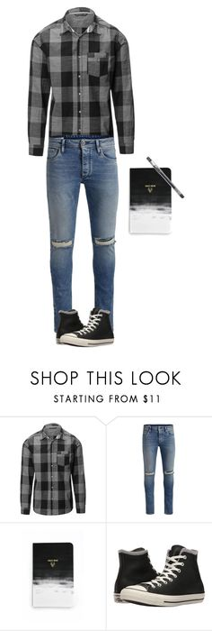 """Going to write some new songs"" by davidkang ❤ liked on Polyvore featuring Jack & Jones, Denik, HI-TEC, Converse, men's fashion and menswear"