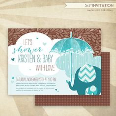 Showered With Love Baby Shower  CUSTOM PRINTABLE by HWTM on Etsy!