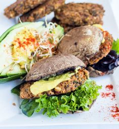 A Collection Of The Most Delicious Veggie Burger Recipes -Sprouted lentil + rice burgers