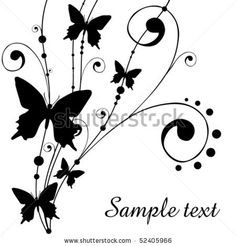 stock vector :  background with butterfly