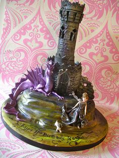 Gothic tower cake for Saskia by nice icing, via Flickr