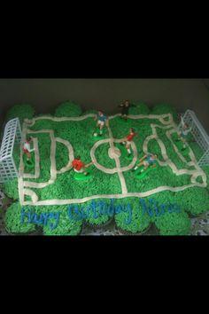Soccer Cupcakes Cupcake Recipes, Baking Recipes, Cupcake Cakes, Baking Ideas, Soccer Treats, Soccer Cupcakes, Cake Cookies, No Bake Cake, Special Day