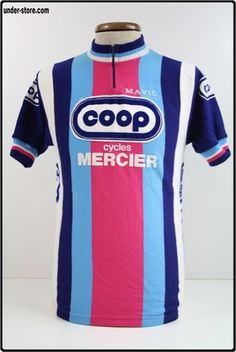 MAILLOT CYCLISME EQUIPE COOP MERCIER 82 CYCLE rfFBB580 Cycling Wear 36ad7889f
