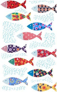 fish More - Christel Ponsero - Emotional support animal .-fish More – Christel Ponsero – Animal de soutien émotionnel fish fish More – Christel Ponsero – Emotional support animal fish - Emotional Support Animal, Illustration Art, Illustrations, Fish Art, Fish Fish, Art For Kids, Art Projects, Applique, Arts And Crafts