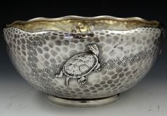 Tiffany sterling bowl with turtles