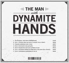 The Man With Dynamite Hands by Michael Molloy, via Behance