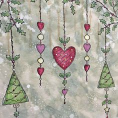 PaperArtsy: NEW PaperArtsy Products: September 2019 {Kay Carley} Christmas Arts And Crafts, Christmas Cards To Make, Xmas Cards, Handmade Christmas, Christmas Crafts, Watercolor Christmas Cards, Watercolor Cards, Christmas Embroidery Patterns, Christmas Doodles
