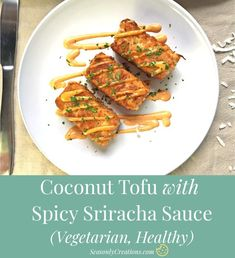 Coconut Tofu with Spicy Sauce Recipe (Vegetarian, Healthy). A flavorful and healthy way to enjoy a filling vegetarian recipe. Vegetarian Main Dishes, Best Vegetarian Recipes, Healthy Recipes On A Budget, Vegetarian Recipes Dinner, Lunch Recipes, Beef Recipes, Budget Meals, Asian Recipes, Healthy Food