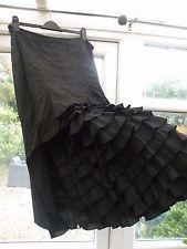 Gorgeous Black Per Una  Lagenlook skirt size 18r Steampunk/Gothic/whitby £53.22 (18B)