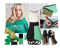 """""""Minty White"""" by suitvous ❤ liked on Polyvore featuring FAUSTO PUGLISI, Casadei, Victoria's Secret, Hermès, Illamasqua, Furla, Shiseido, WorkWear, business and BusinessWoman"""