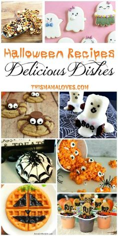Halloween Recipes and our Delicious Dishes Recipe Party Halloween Recipes Your kids will love these fun and spooky Halloween Treats. The post Halloween Recipes and our Delicious Dishes Recipe Party appeared first on Urlaub. Spooky Halloween, Diy Halloween Party, Halloween Mignon, Dessert Halloween, Halloween Treats For Kids, Spooky Treats, Halloween Baking, Halloween Goodies, Halloween Cupcakes