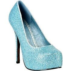 This pump features a shiny, textured upper with a concealed platform, stiletto heel and round toe.