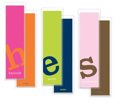 Letter Perfect Solid Bookmarks in Your Color Choice