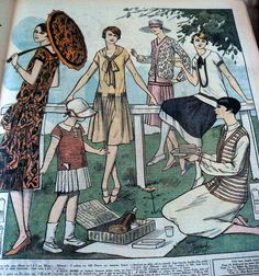 Vtg 1920s Paris Fashion Sewing Pattern Magazine Le Petit Echo de La Mode 1926 | eBay
